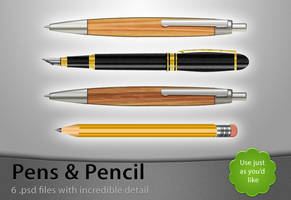 Pens and Pencil - Free .PSDs by Lukasiniho