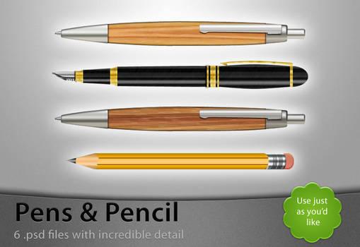 Pens and Pencil - Free .PSDs