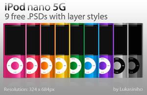 iPod nano 5G - 9 free .PSDs by Lukasiniho