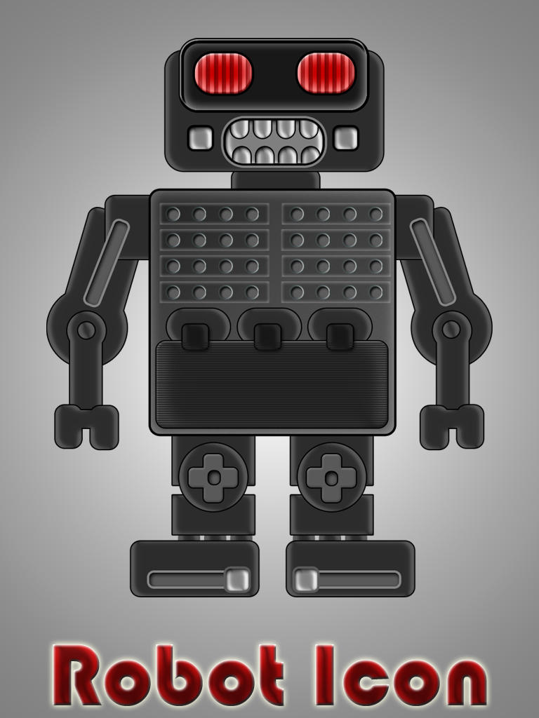 Robot Icon by Lukasiniho
