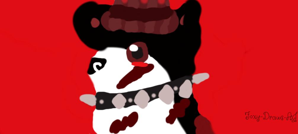 Red Pixel fanart :) by Foxy-Draws-AJ