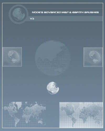 Advance Map Earth Brushes V3 by NodeGFX