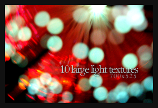 10 Large Light Textures by monstreum