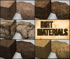 Cinema 4D -- Dirt MaterialPack by SMOKEYoriginalHD
