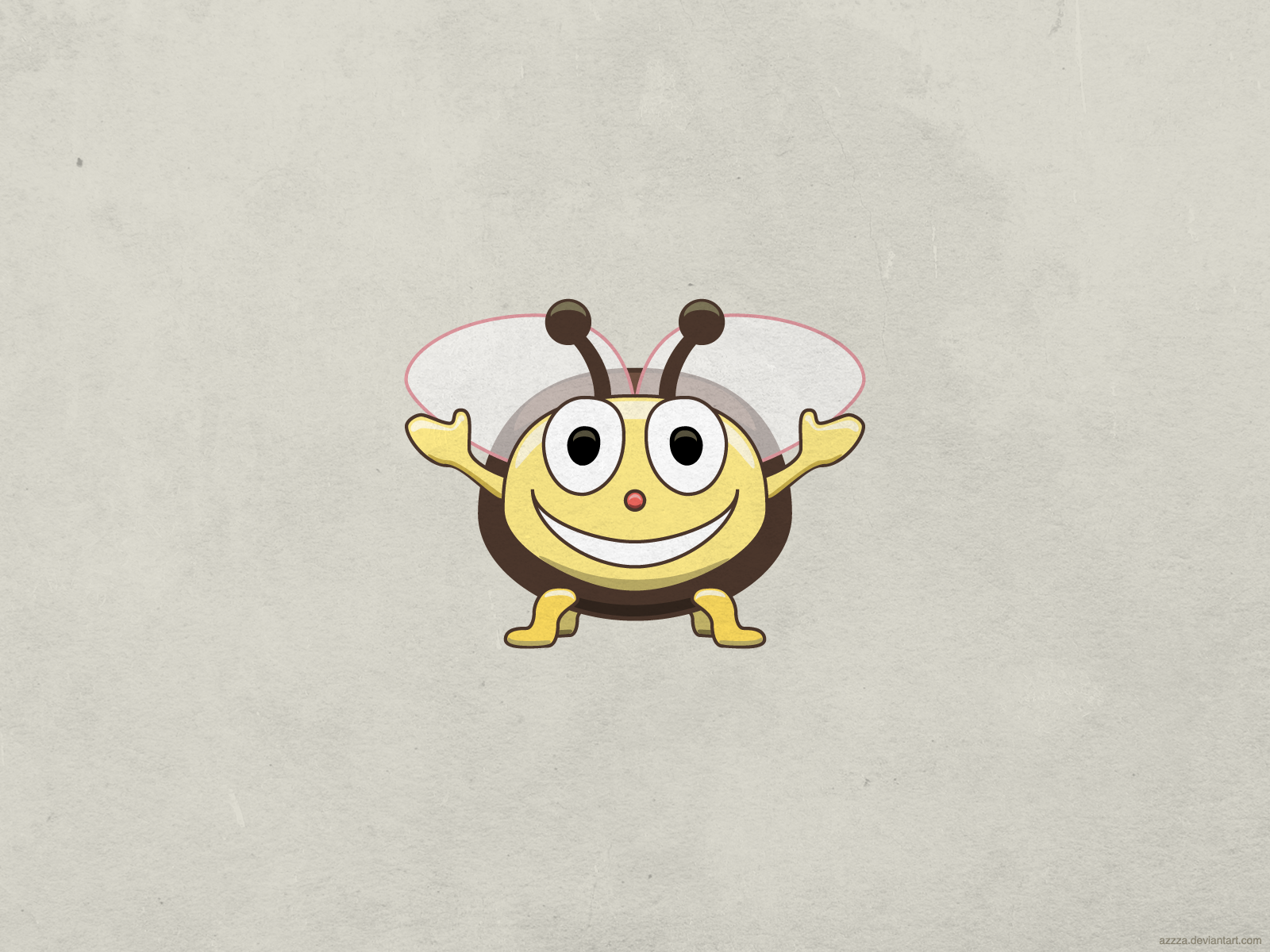 Cute Smiling Bee Wallpaper By Azzza