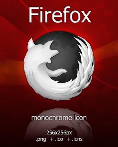 Monochrome Firefox by arrioch