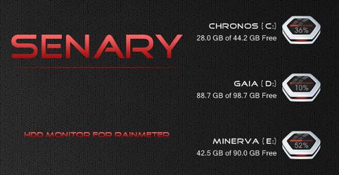 Senary HDD Monitor by arrioch