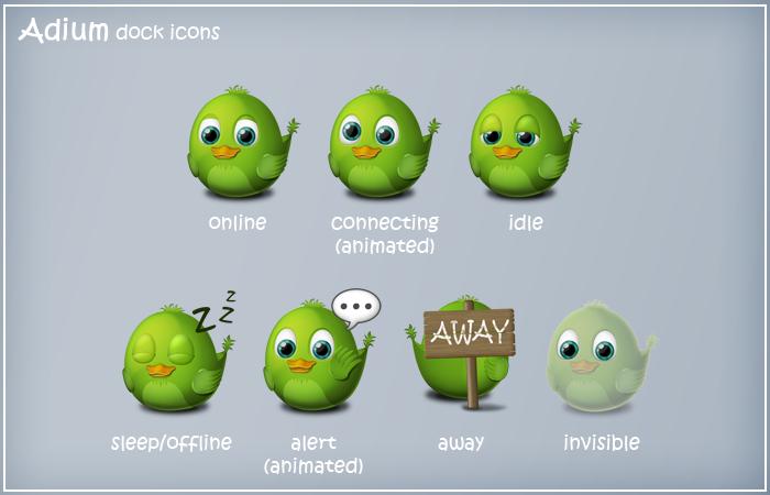 Birdie Adium Dock Icons