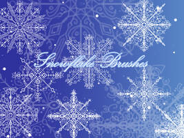 Snowflake Brushes by TairoruXRyuu