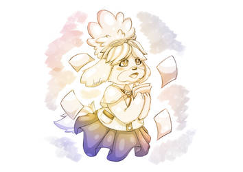 Isabelle Sketch - Animal crossing by AuraGoddess
