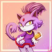Blaze the Cat - Sonic Fanart