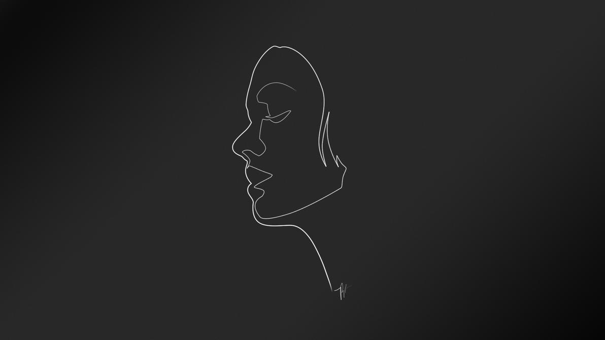 Most Inspiring Wallpaper Black And White Minimalist - yvonne_strahovski_minimal_wallpaper_by_pubudu-d5r7ce0  Graphic_297261.jpg