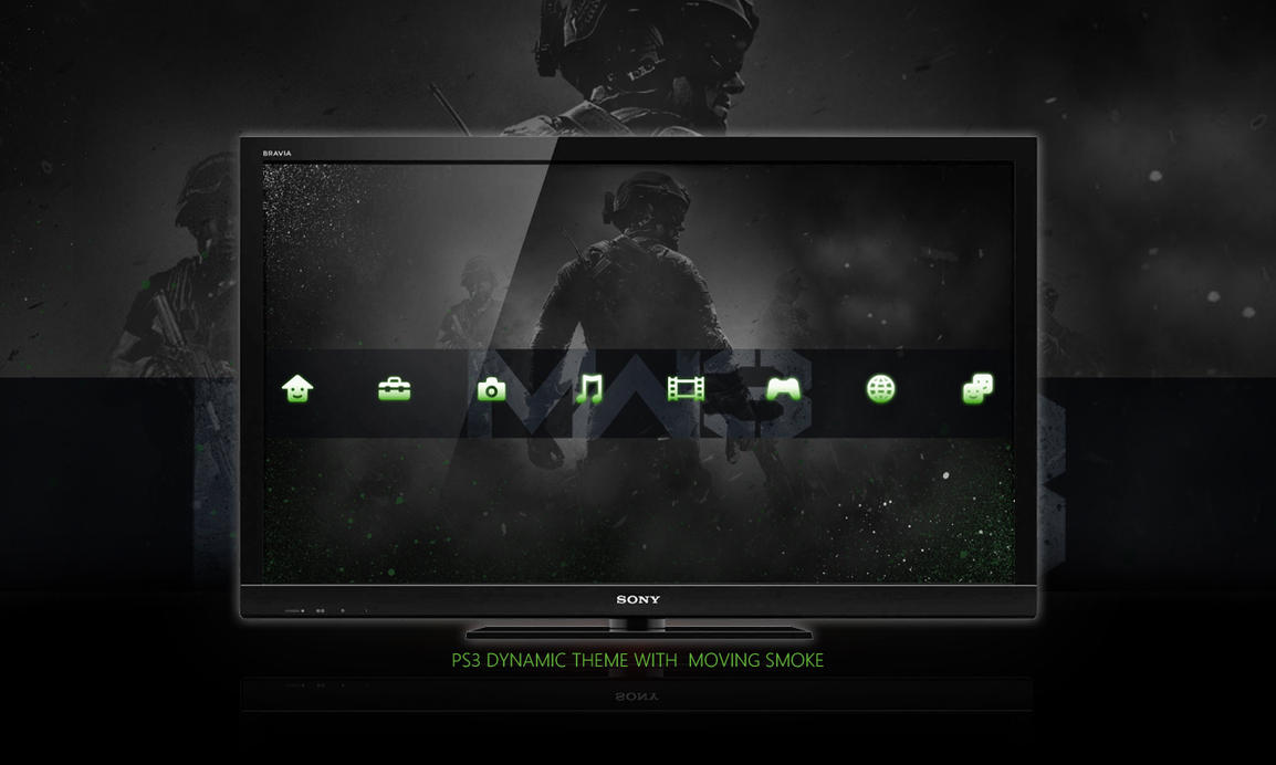 Call Of Duty : MW3 PS3 Back Dynamic Theme by DesignsByTopher