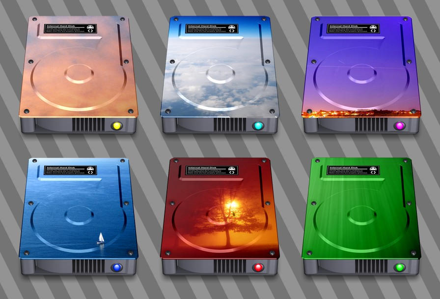 Hard Drive Icons by JollyGreenJustin