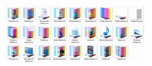 Rainbow Prism Folder Icons