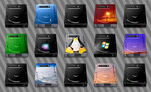 HDD icons for MacIntosh