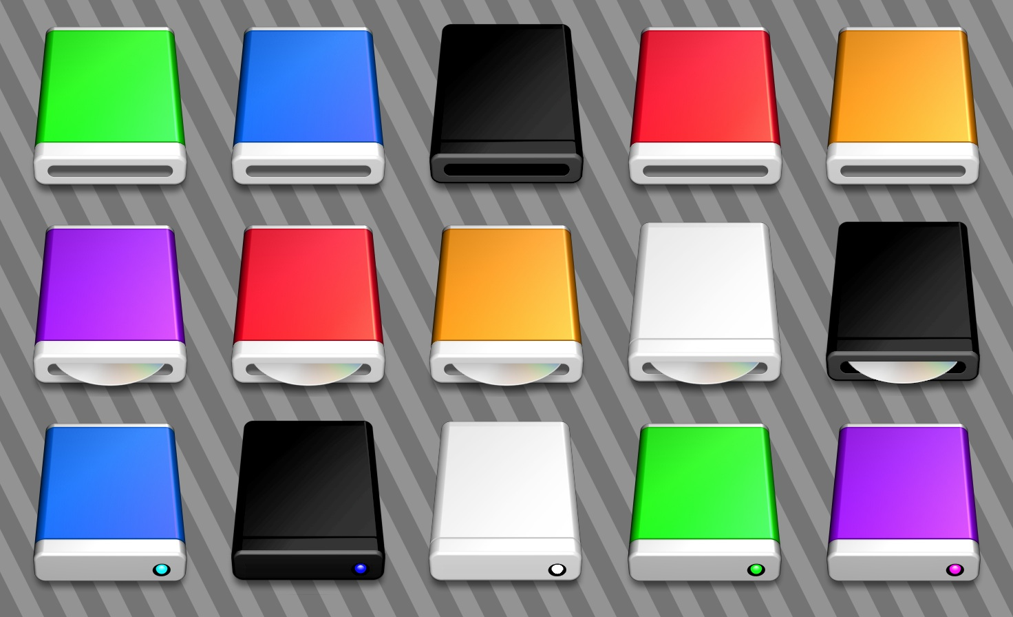 Mac Style Disc Drive Icons