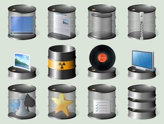 Drum folders Windows 10, 28 icons included by CitizenJustin