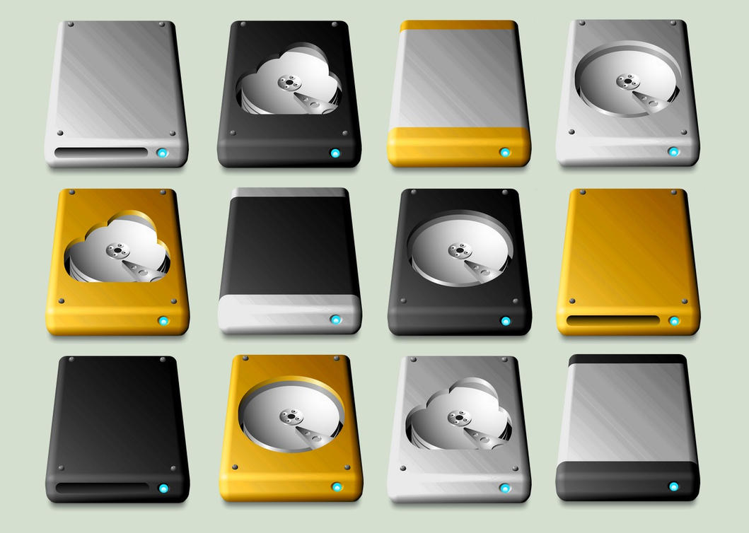 New MacIntosh Drive Icons by JollyGreenJustin
