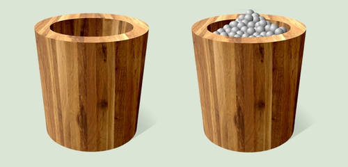 Wooden Recycle Bin