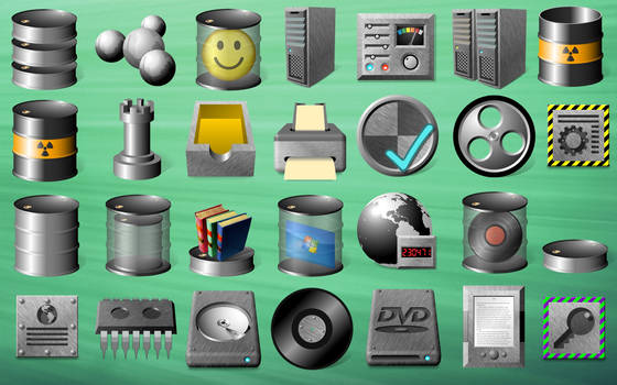 Industrial Drum Icons (Windows 10 only)