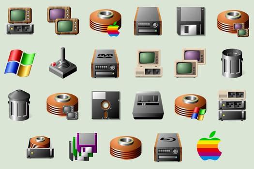 Retro Computer Icons (PC and Mac)