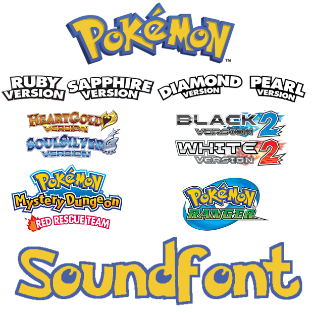 Several Pokemon Soundfonts by MelodyCrystel on DeviantArt