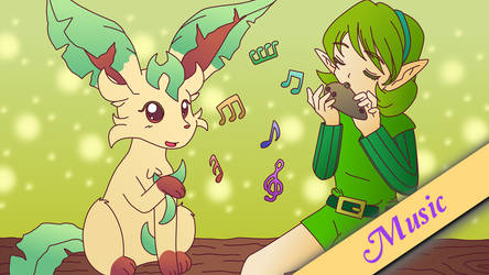 Miku as TamarinFrog's Saria - Sacred Grove Lullaby by MelodyCrystel