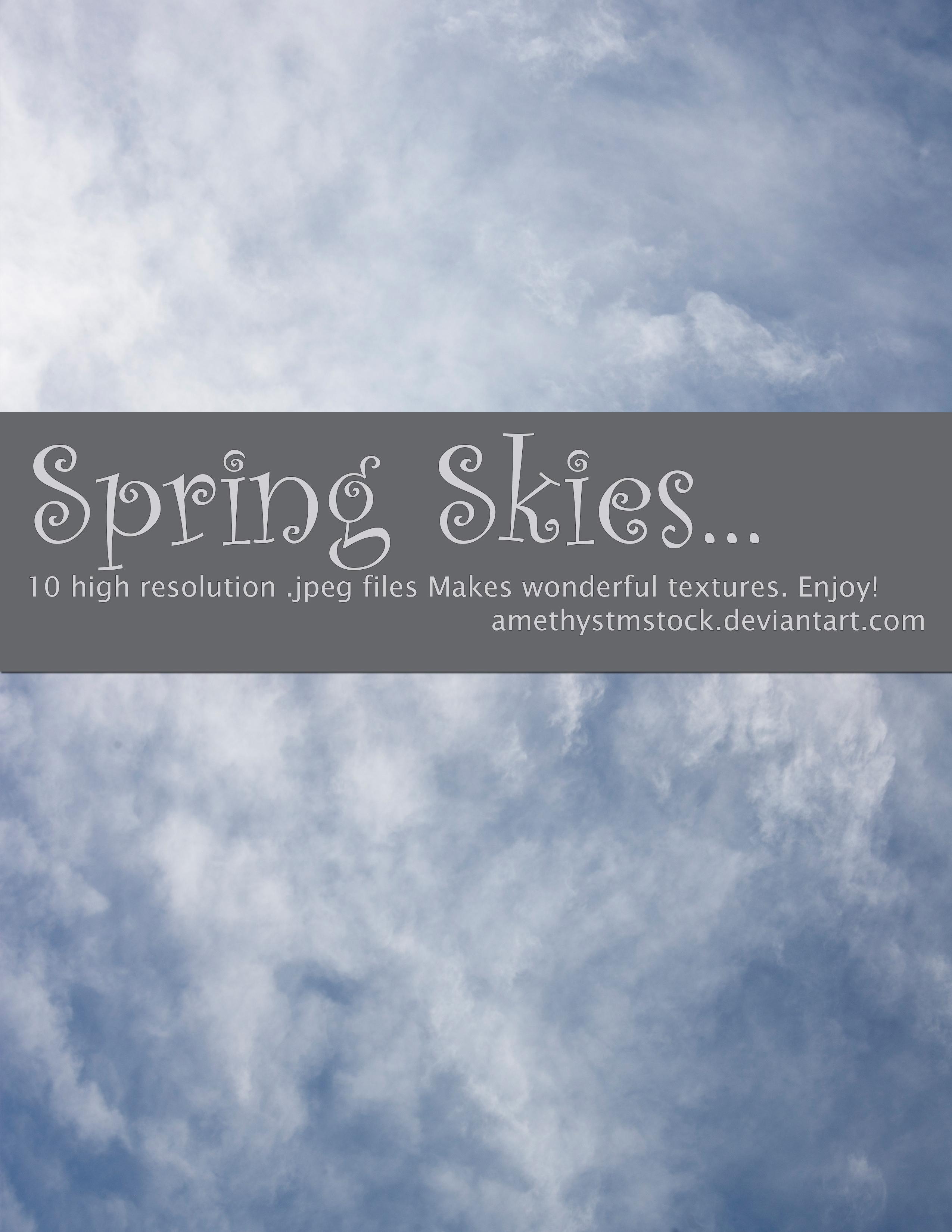 Spring Skies stock pack amethystmstock by amethystmstock