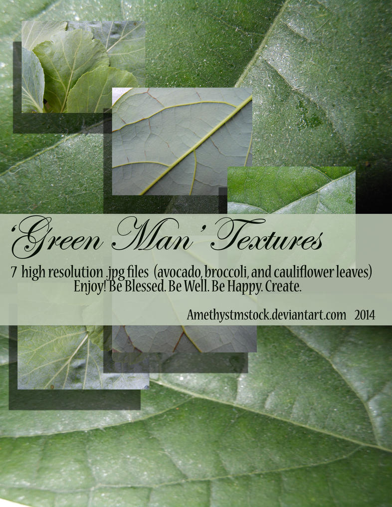 Green Man Texture Stock Pack by amethystmstock