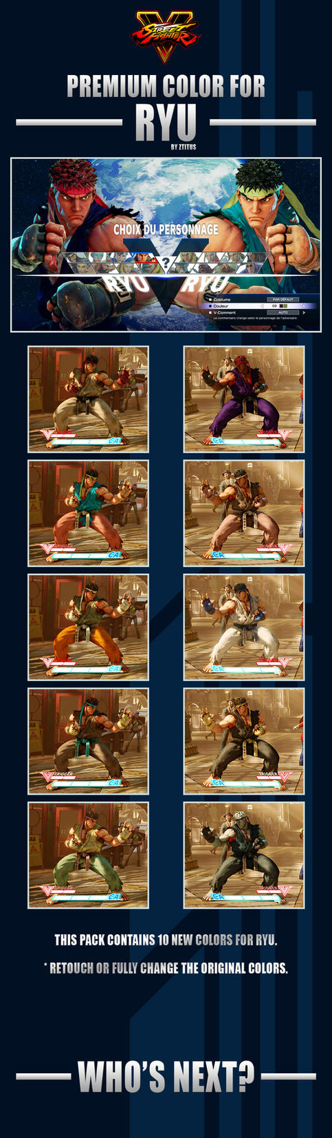 Street Fighter V - Ryu Premium Color by Ztitus by Ztitus