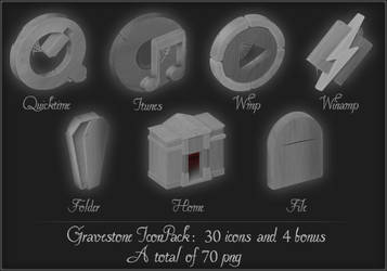 Gravestone iconpack by Alexinger