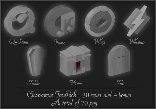 Gravestone iconpack