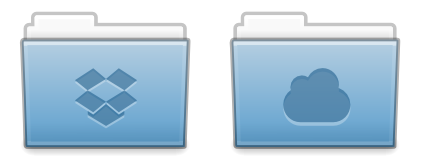 Dropbox and UbuntuOne Elementary Folder Icons by jdorenbush