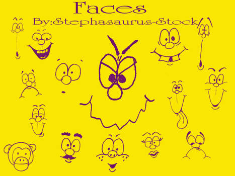 cartoonfaces by stephasaurus