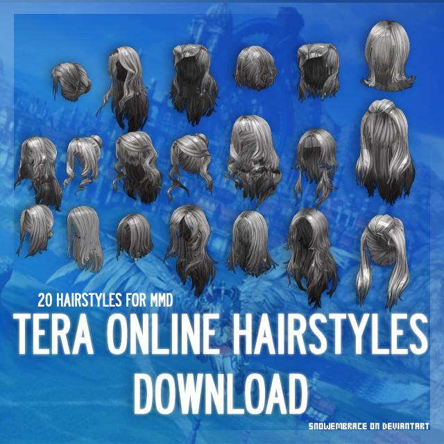 MMD] TERA Online Hairstyles - DL by SnowEmbrace on DeviantArt