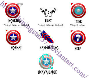 Captain America Cursor Set by ShiningStar37