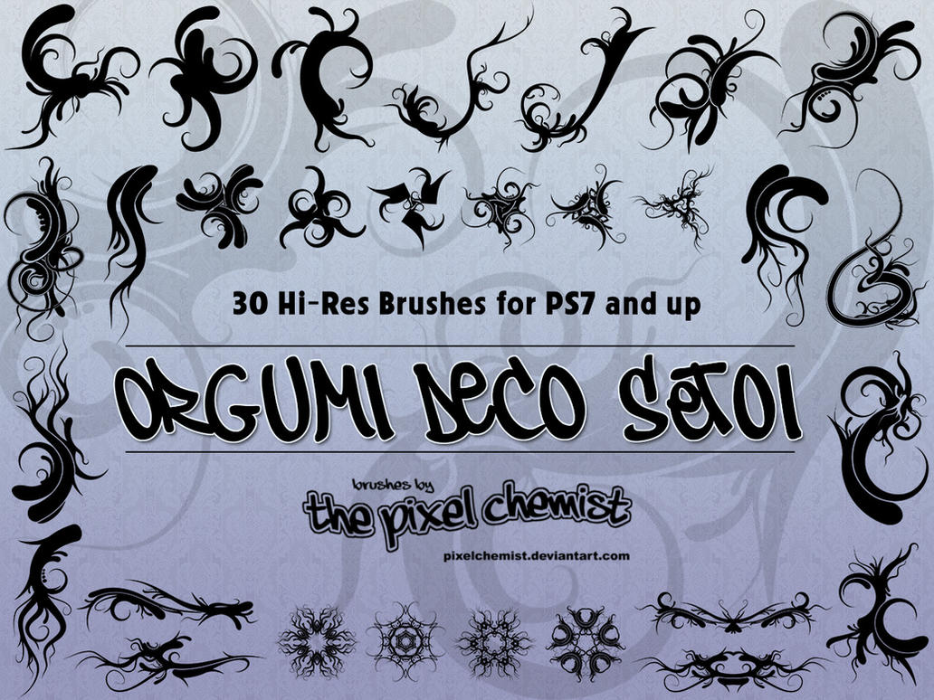 Brushes - Orgumi Deco Set01 by pixelchemist