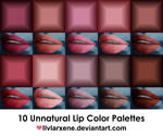 Unnatural Lip Color Palettes