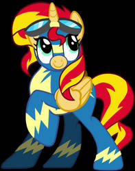MLP - Sunset Shimmer as a Wonderbolt by RamseyBrony17