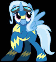 MLP - Trixie as a Wonderbolt by RamseyBrony17