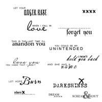 Muse Lyrics - Text Brushes by parisbelle