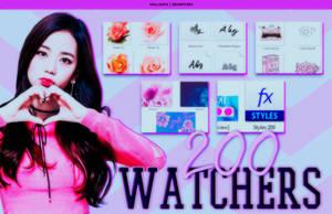 200 Watchers! by Hallyumi