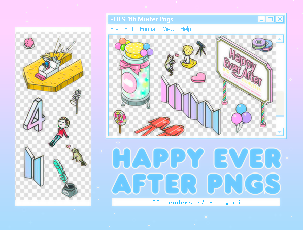PNG PACK: Happy Ever After (BTS 4th Muster) by Hallyumi on DeviantArt