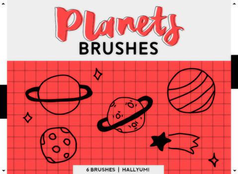BRUSHES: Planets #1 by Hallyumi