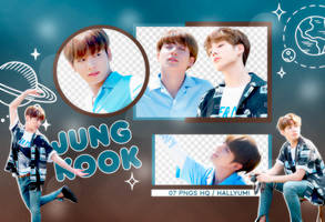 PNG PACK: JungKook #17 by Hallyumi