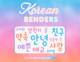 RENDERS: Hangul #1 by Hallyumi