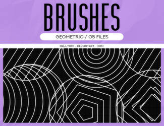 BRUSHES: Geometric #1 by Hallyumi