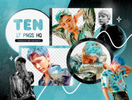 PNG PACK: Ten #3 (New Heroes) by Hallyumi
