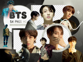 PNG PACK: BTS #57 (FAKE LOVE) by Hallyumi